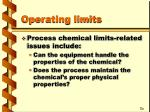 operating limits1
