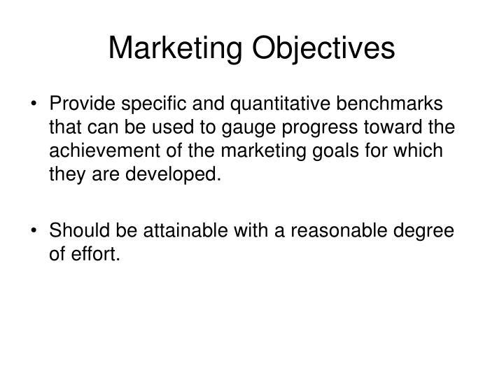 Marketing Objectives