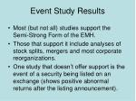 event study results