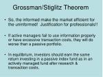 grossman stiglitz theorem26
