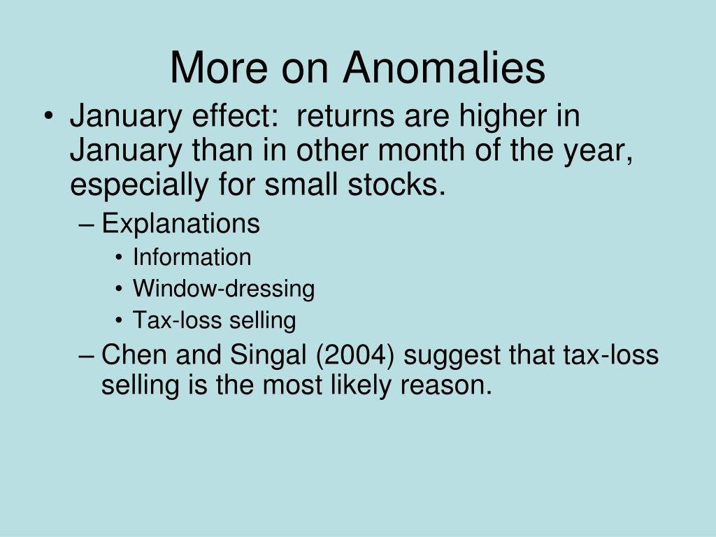 More on Anomalies