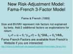 new risk adjustment model fama french 3 factor model