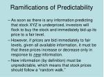 ramifications of predictability6