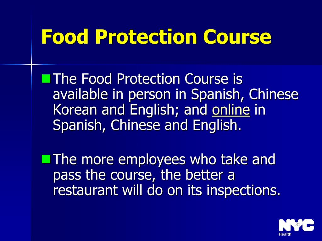 Food Protection Course