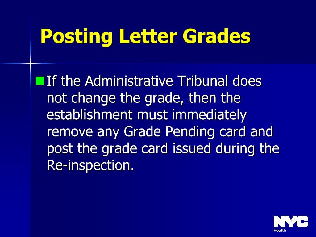 Posting Letter Grades