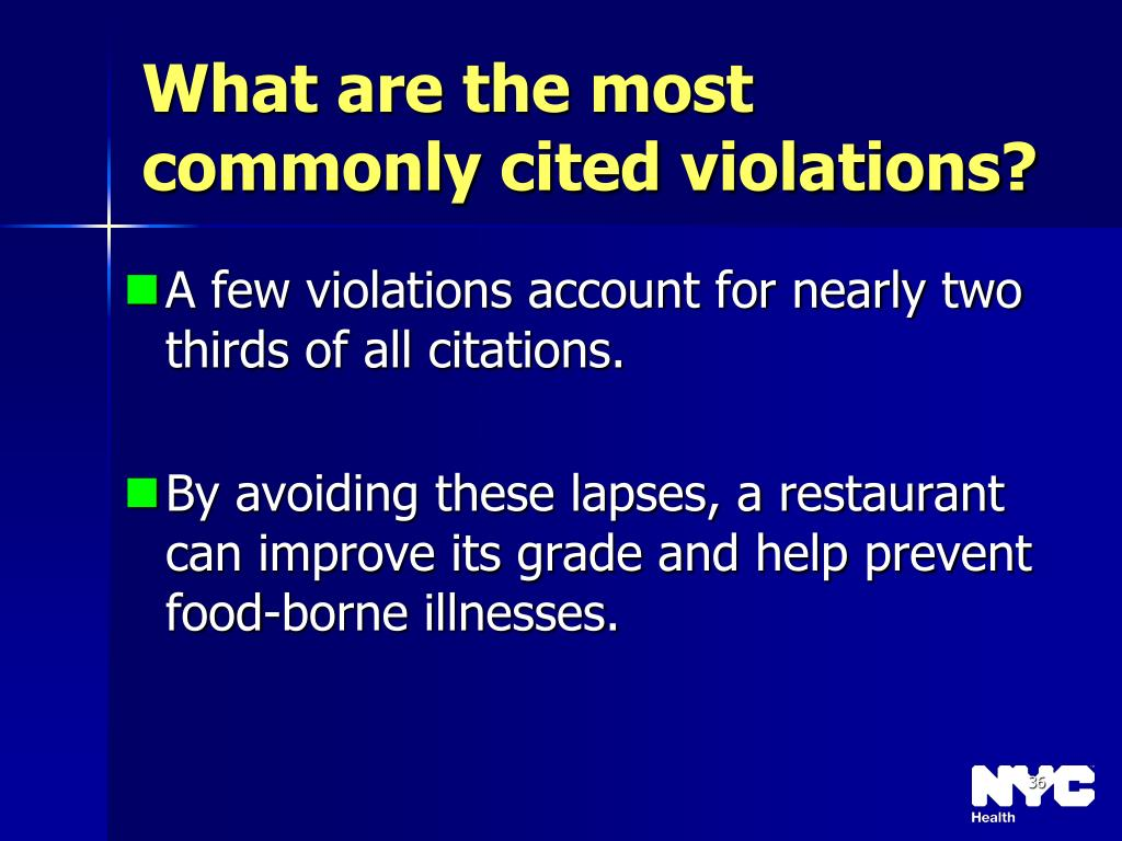 What are the most commonly cited violations?