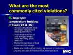 what are the most commonly cited violations40