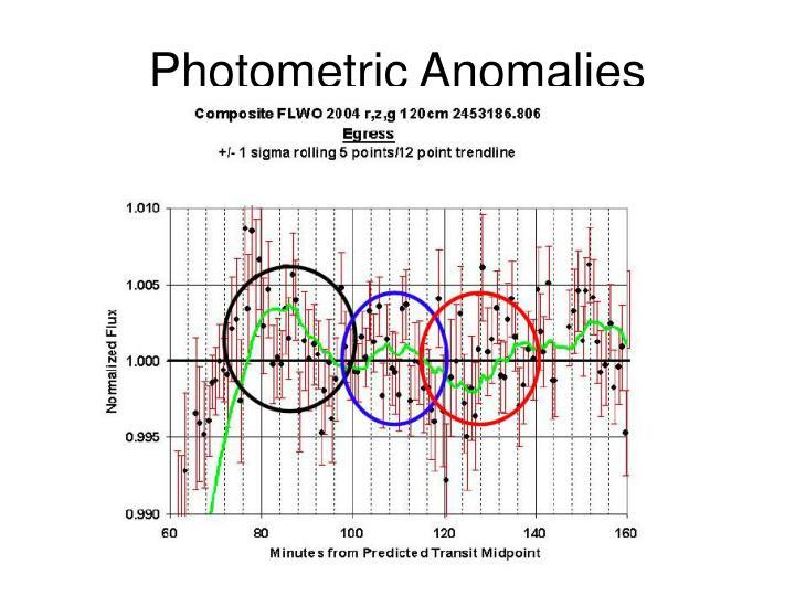 Photometric Anomalies