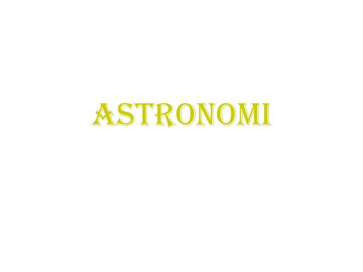 astronomi n.