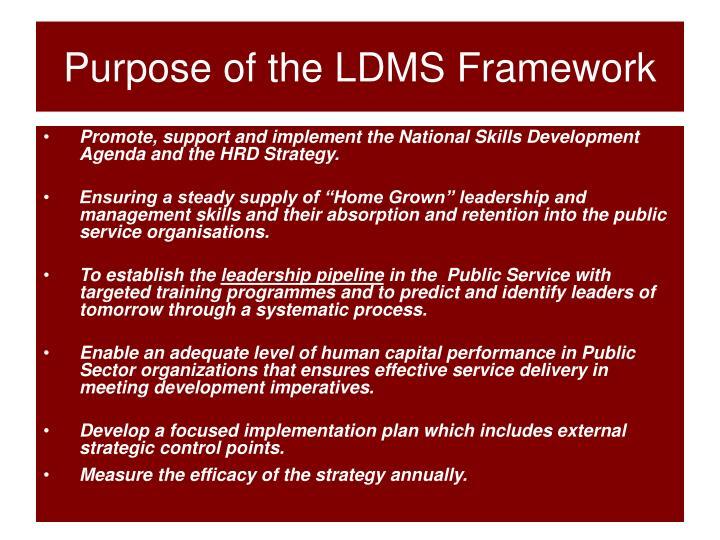 Purpose of the LDMS Framework