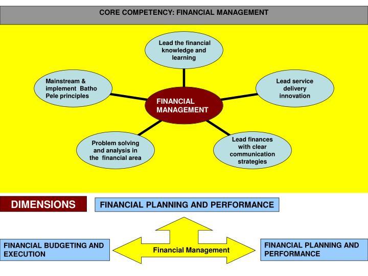 CORE COMPETENCY: FINANCIAL MANAGEMENT