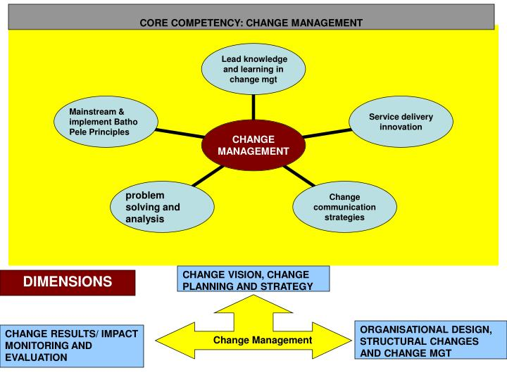 CORE COMPETENCY: CHANGE MANAGEMENT