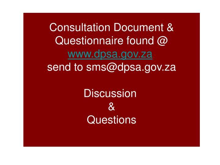 Consultation Document &