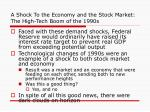 a shock to the economy and the stock market the high tech boom of the 1990s24
