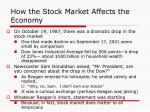 how the stock market affects the economy