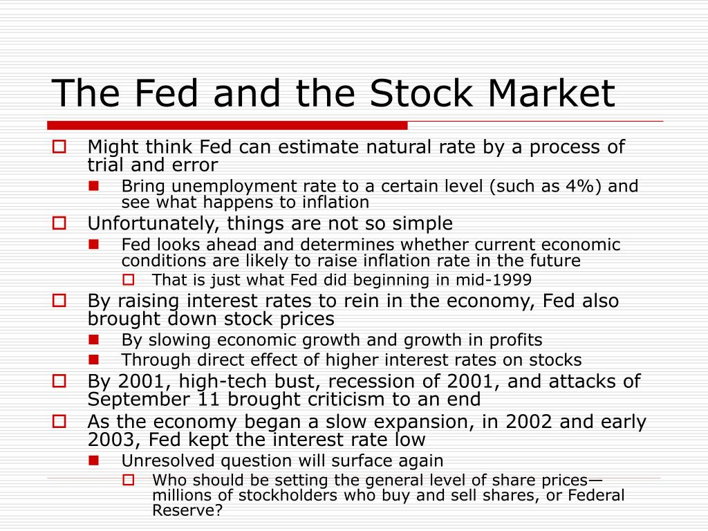 The Fed and the Stock Market