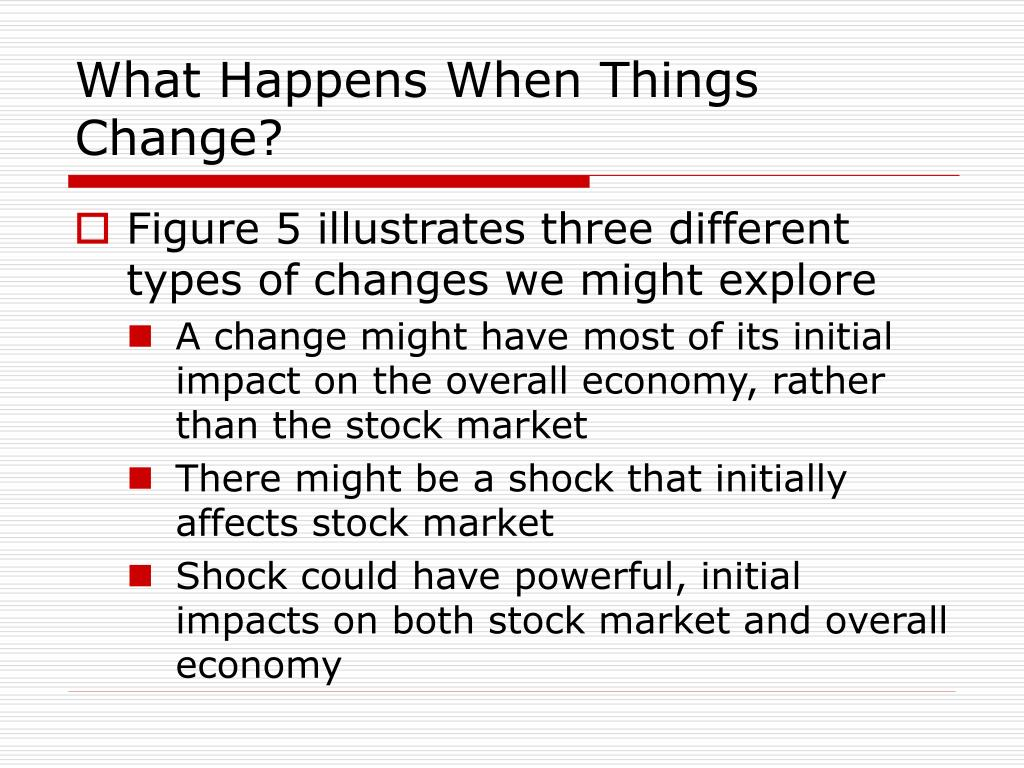 What Happens When Things Change?