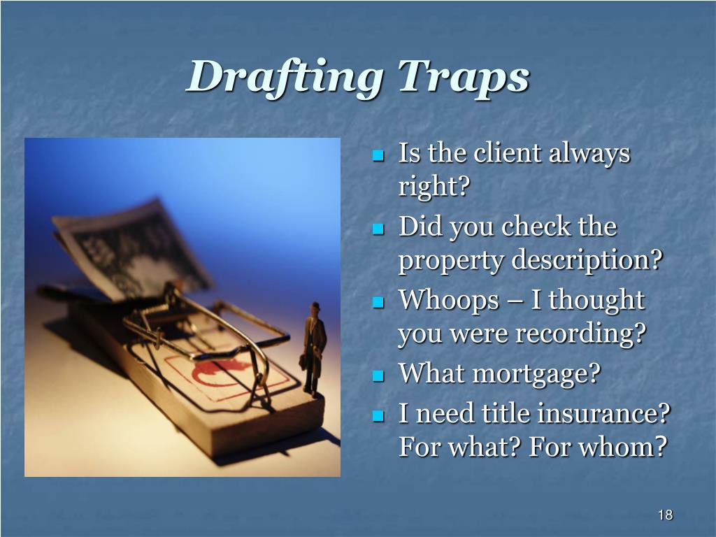 Drafting Traps
