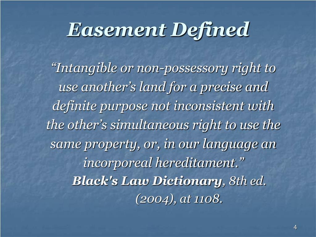 Easement Defined