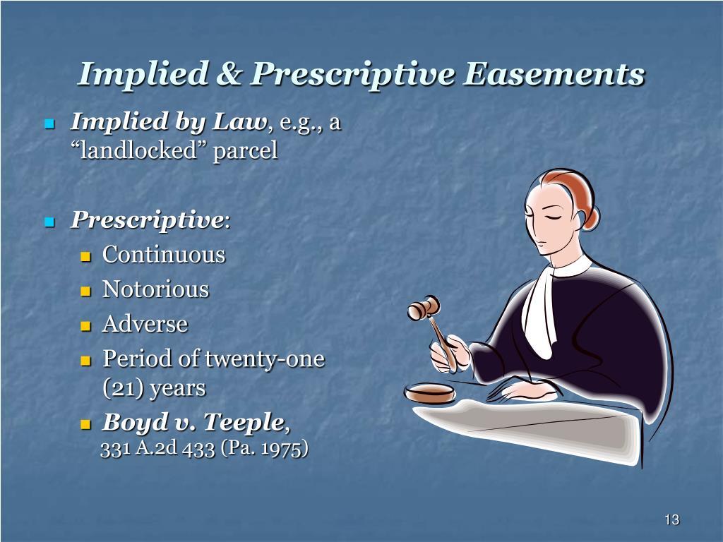 Implied & Prescriptive Easements