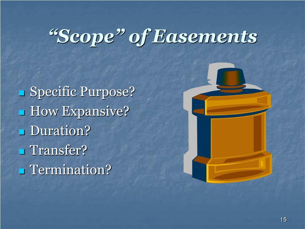 """Scope"" of Easements"