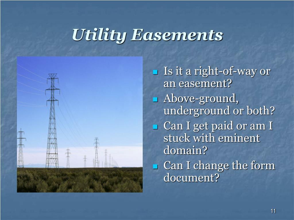Utility Easements