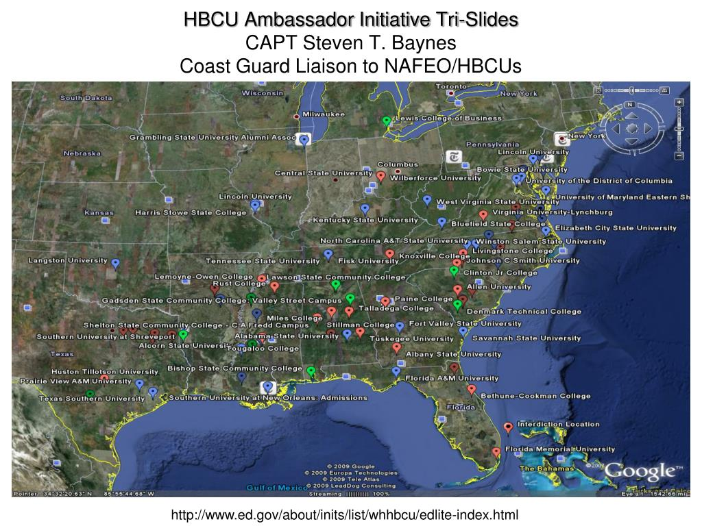 hbcu ambassador initiative tri slides capt steven t baynes coast guard liaison to nafeo hbcus l.