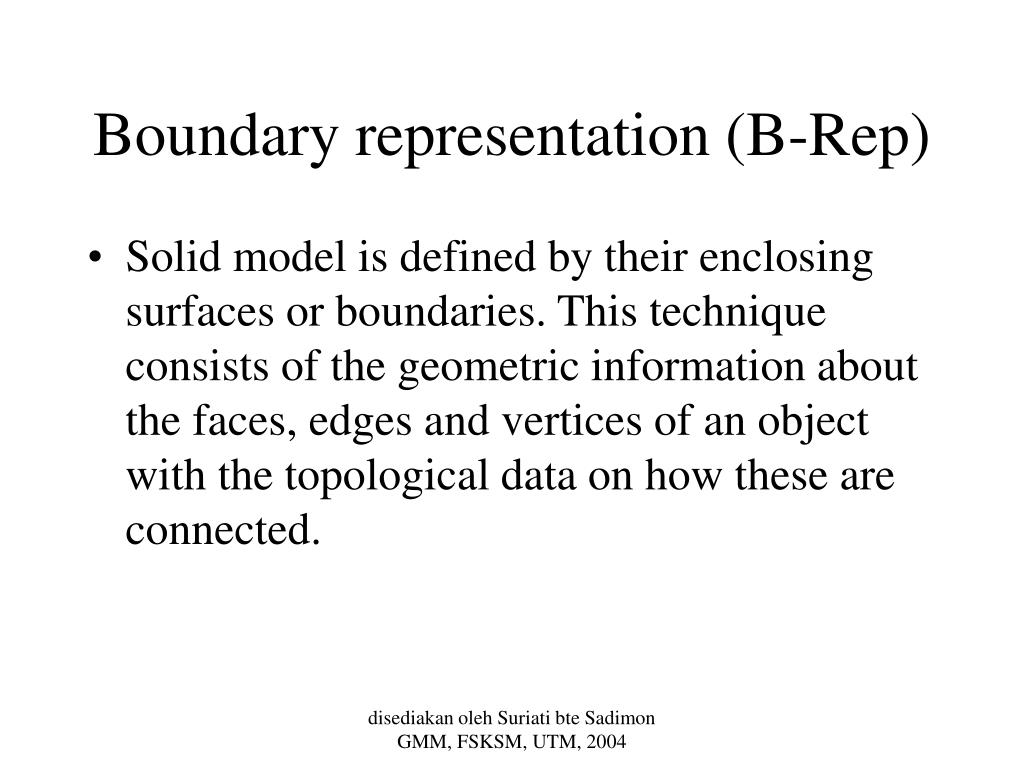 Boundary representation (B-Rep)