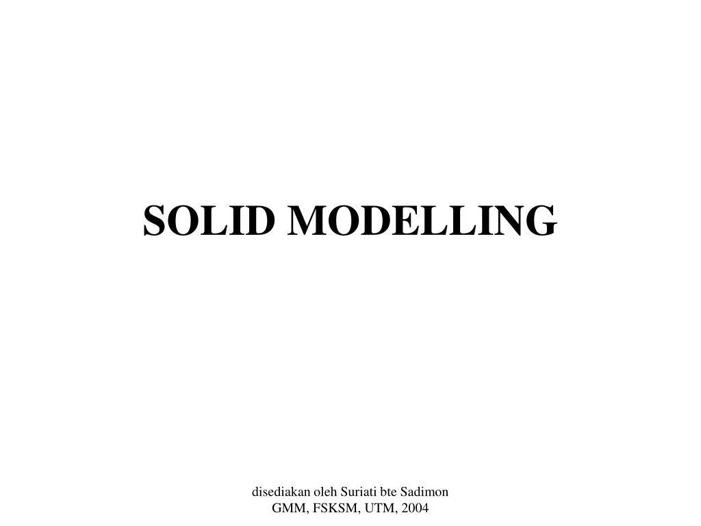 solid modelling l.