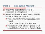 part i the bond market
