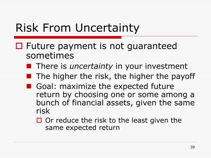 Risk From Uncertainty