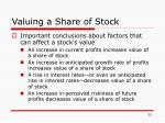 valuing a share of stock1