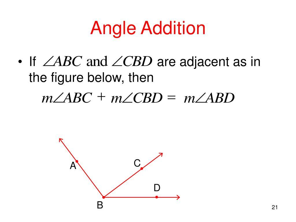 Angle Addition