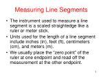 measuring line segments