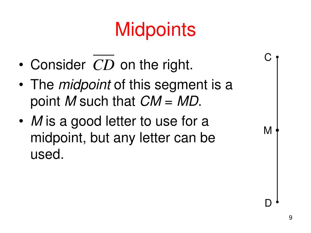 Midpoints