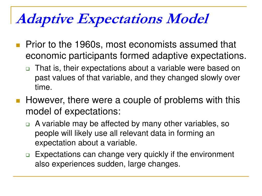 Adaptive Expectations Model