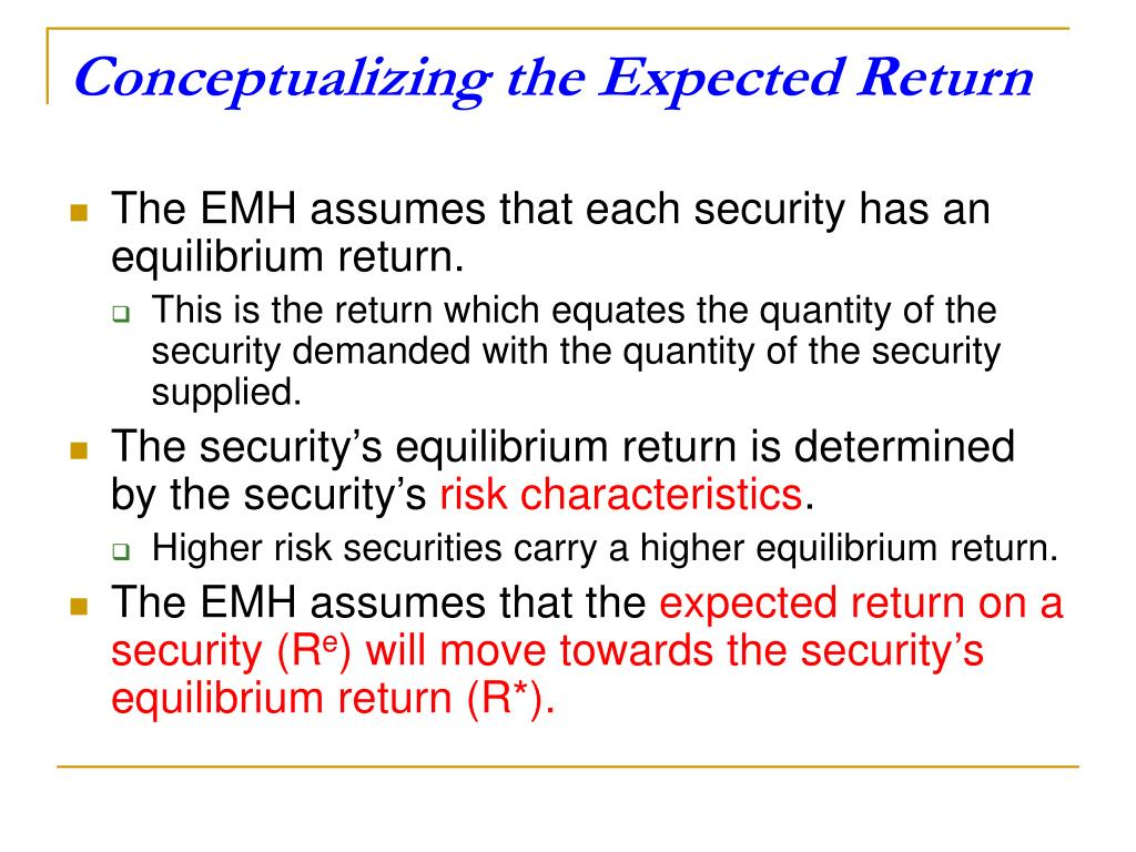 Conceptualizing the Expected Return