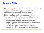 january effect