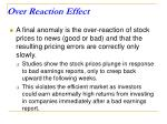 over reaction effect
