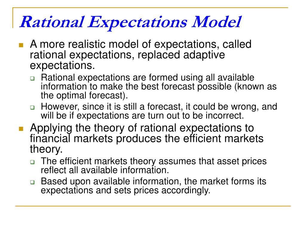 Rational Expectations Model