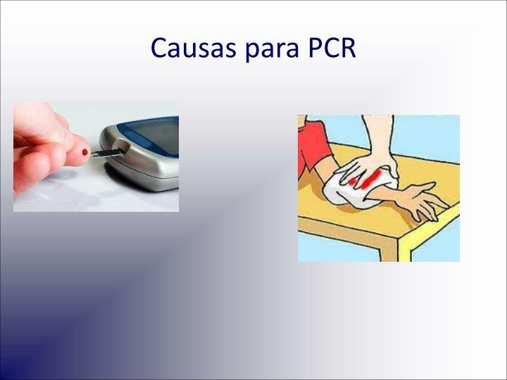 Causas para PCR