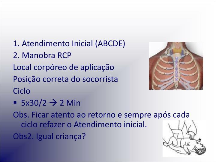 1. Atendimento Inicial (ABCDE)