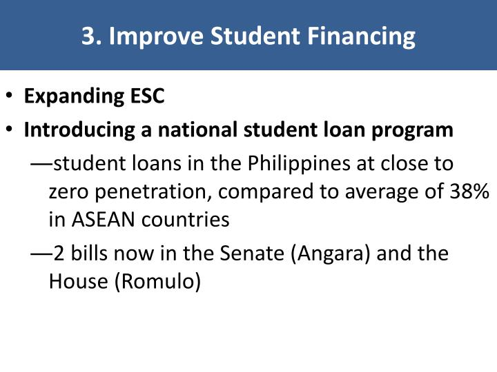 3. Improve Student Financing