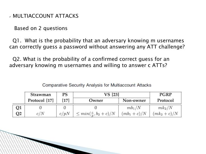 MULTIACCOUNT ATTACKS