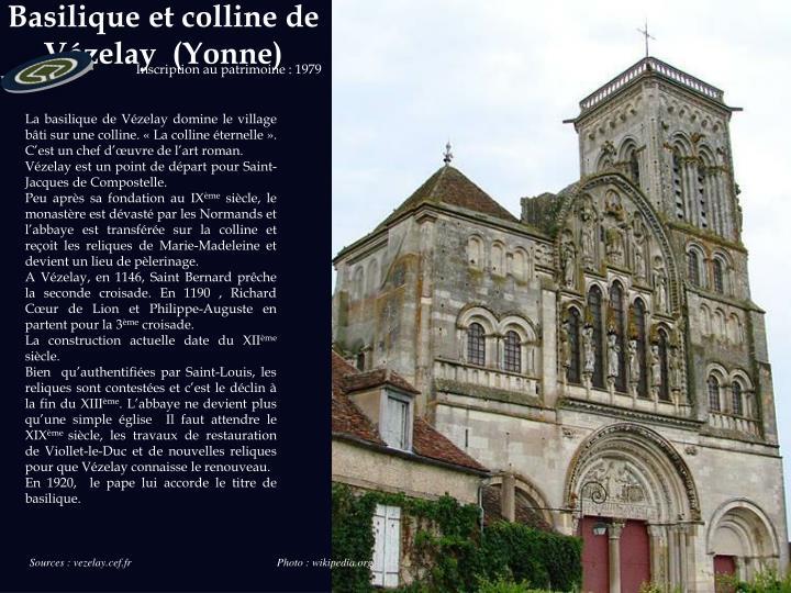 Basilique et colline de v zelay yonne