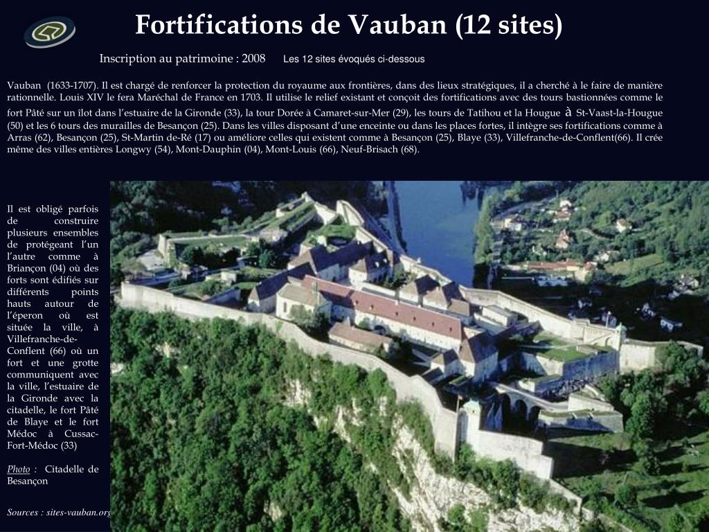 Fortifications de Vauban (12 sites)