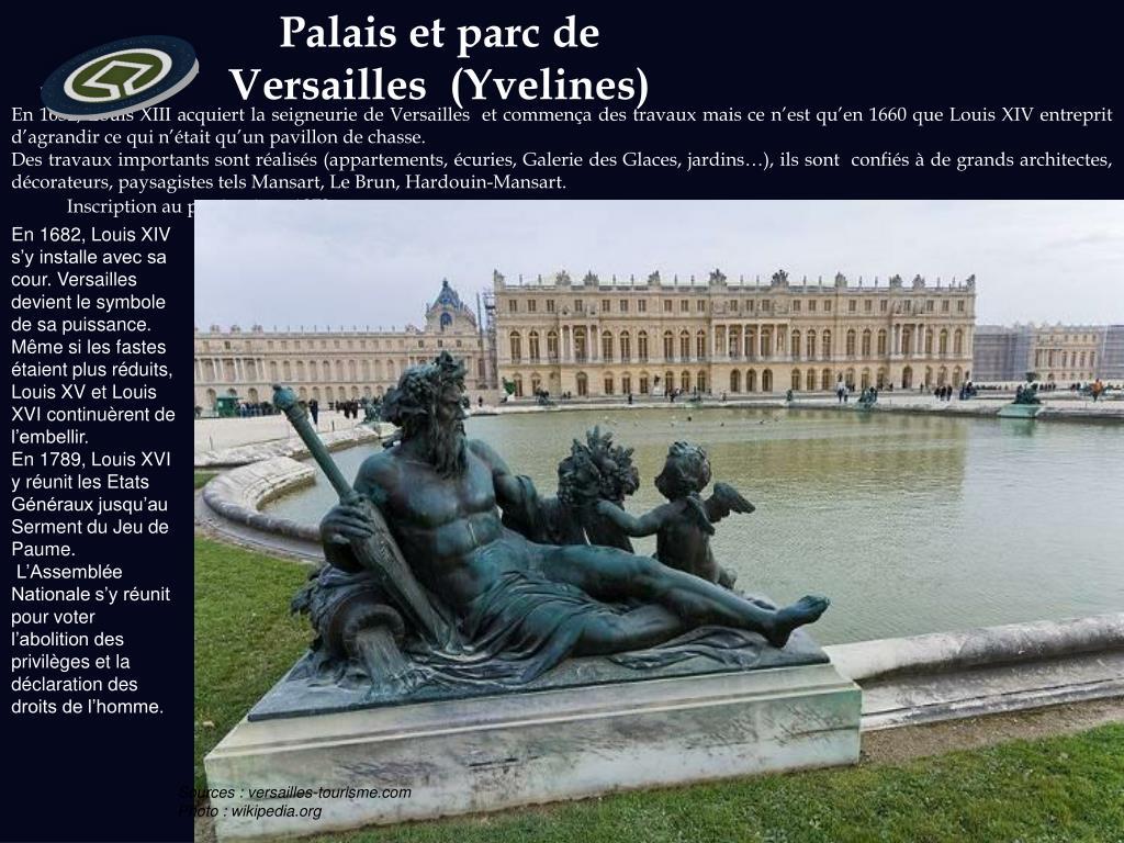 Palais et parc de Versailles  (Yvelines)