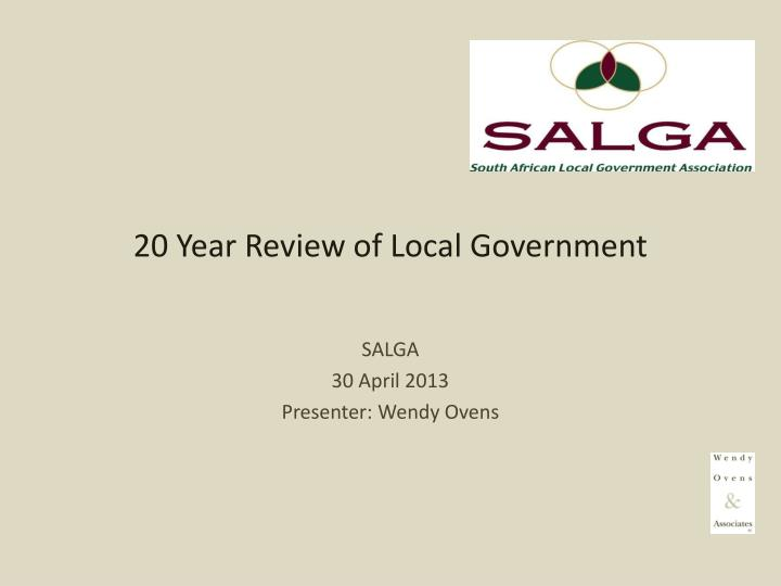 20 year review of local government n.