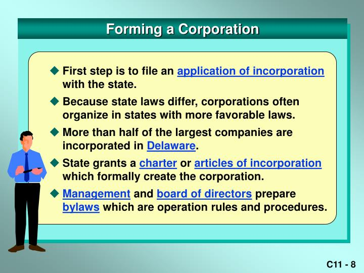 Forming a Corporation