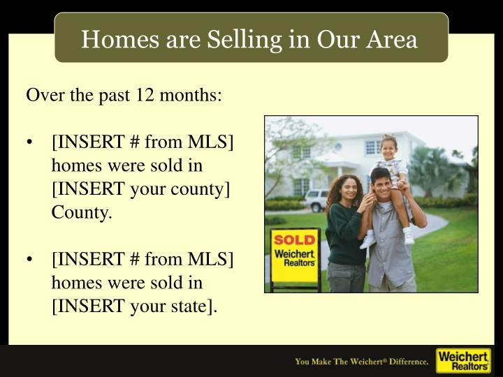 Homes are Selling in Our Area